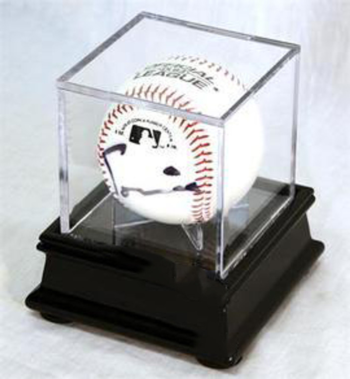 Single Baseball Cube Display Case Stand with 98% UV Ultra Pro Cube Included