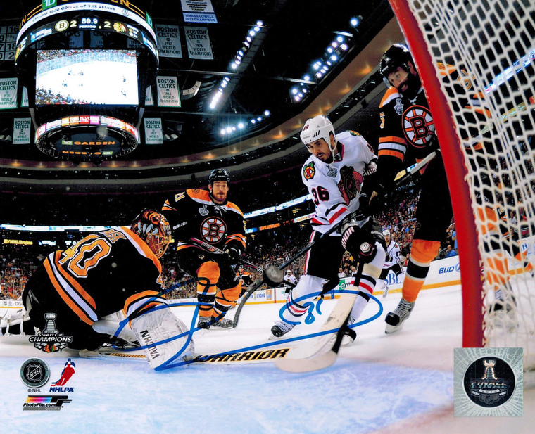 Dave Bolland Autographeded Chicago Blackhawks 2013 Stanley Cup Finals Winning Goal 8x10 Photo