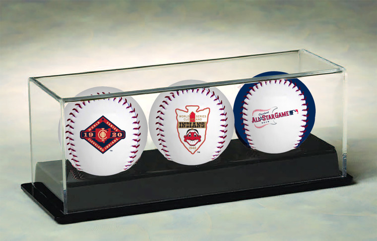 Cleveland Indians 2019 All-Star Game 3-Ball Set with Display Case