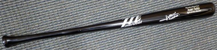 Juan Soto Autographed Bat - Washington Nationals Name Model Marucci Beckett BAS