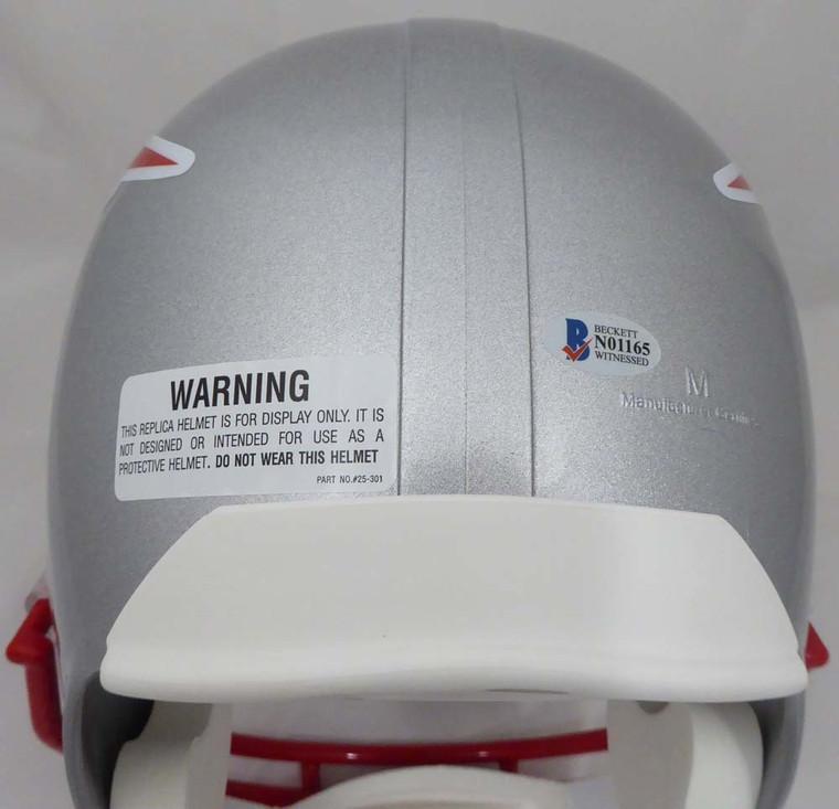 Julian Edelman Autographed New England Patriots Full Size Replica Helmet TriStar Holo & Beckett BAS