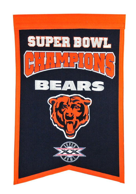 Chicago Bears Champions Banner 14x22