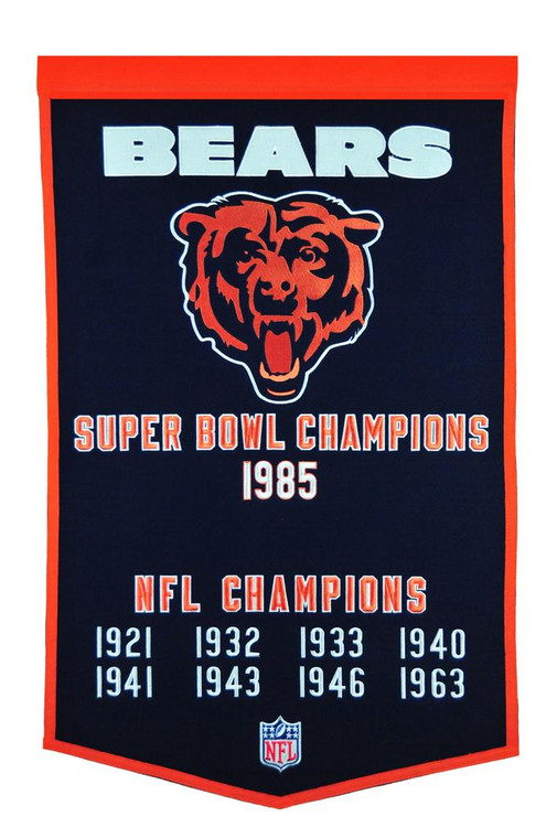 Chicago Bears Dynasty Banner 24x36