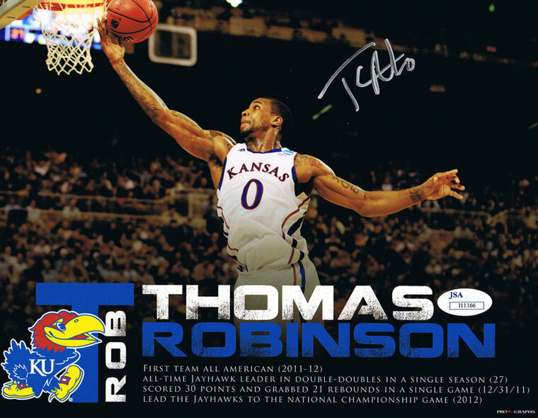 Thomas Robinson Signed 8x10 - Kansas Jayhawks Autographed Photo JSA