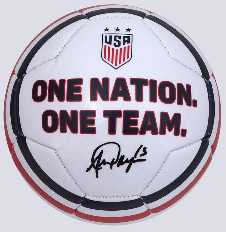 Alex Morgan Autographed Team USA Soccer Ball Beckett BAS