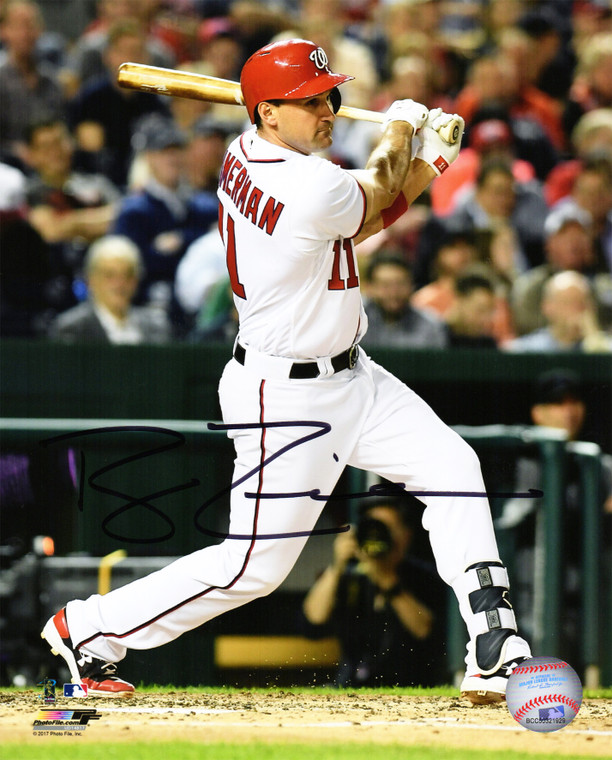Ryan Zimmerman  Washington Nationals Autographed 8x10 Action Photo