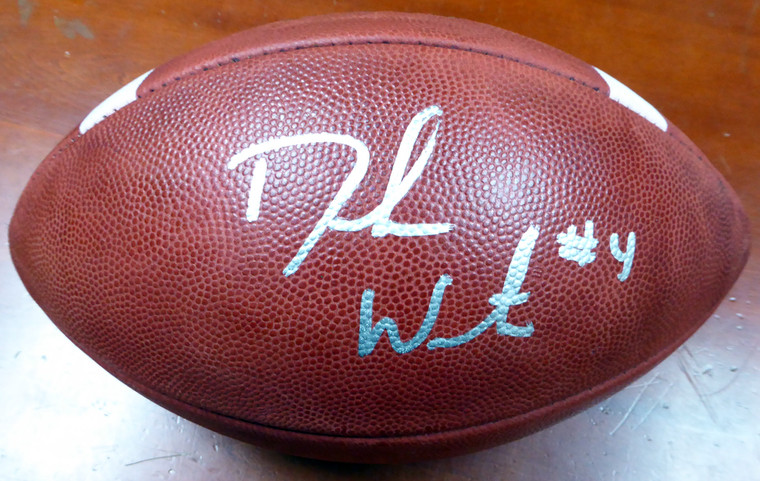 Deshaun Watson Autographed Football - Clemson Tigers Wilson Official NCAA Leather Beckett BAS