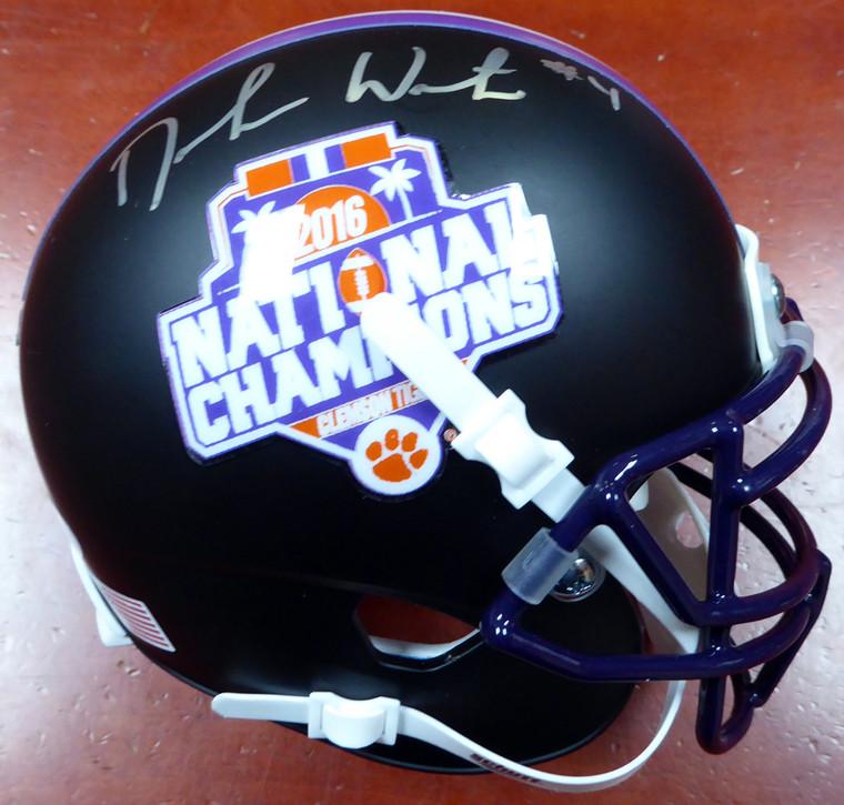 Deshaun Watson Autographed Mini Helmet - Clemson Tigers Schutt National Champs Logo Beckett BAS