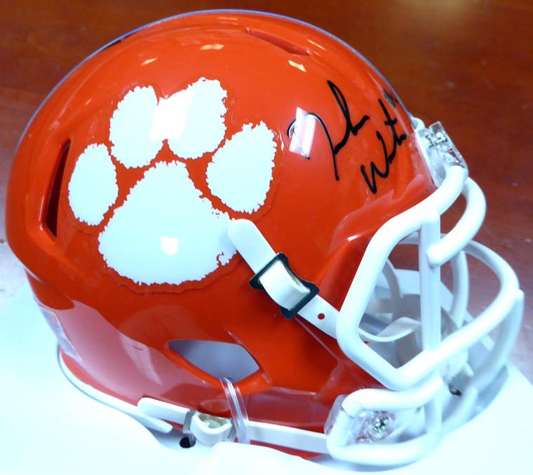 Deshaun Watson Autographed Mini Helmet - Clemson Tigers Riddell Speed Beckett BAS