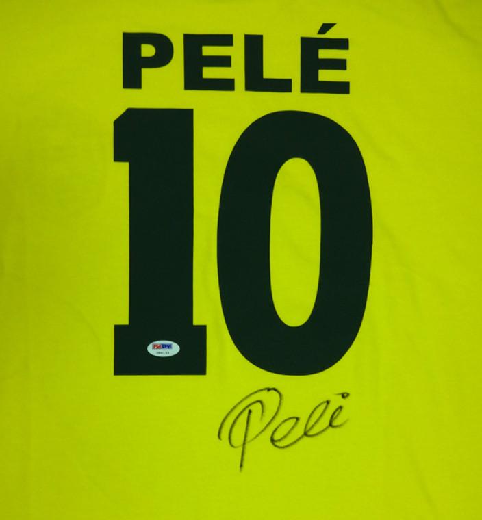 Pele Autographed Jersey - Brazil Short Sleeve PSA/DNA