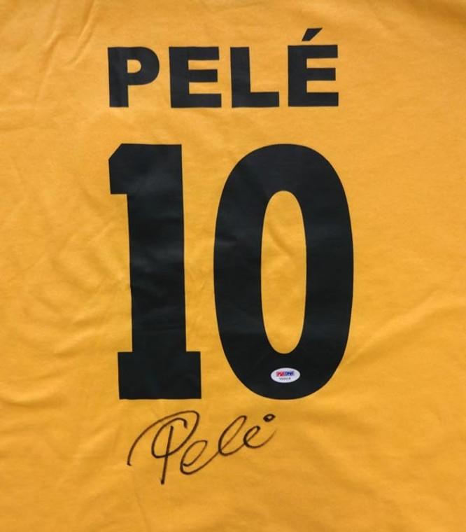 Pele Autographed Jersey - CBD Brazil Short Sleeve PSA/DNA