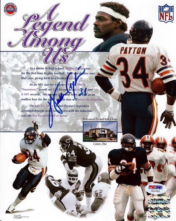 Walter Payton Autographed 8x10 Photo - Chicago Bears PSA/DNA