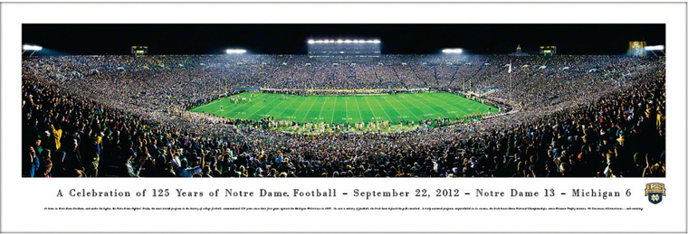 Notre Dame Fighting Irish 125 Seasons Game Panorama