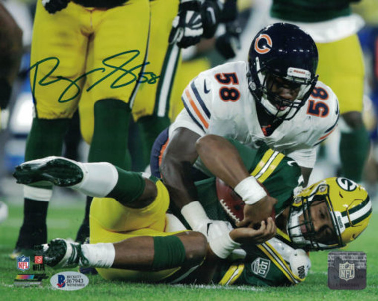 Roquan Smith Autographed 8x10 Photo - Chicago Bears vs Packers BAS