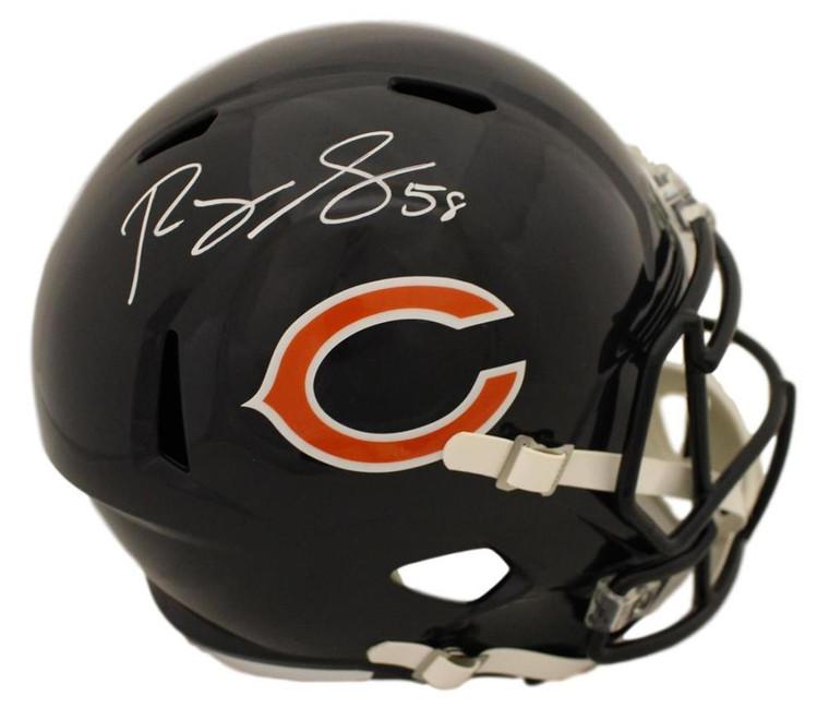 Roquan Smith Autographed Helmet - Chicago Bears Speed Replica BAS