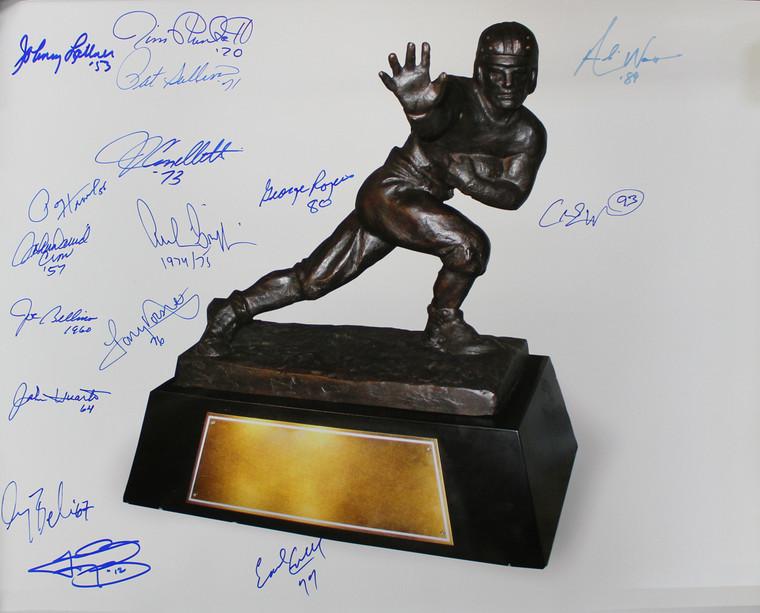 Heisman Trophy Winners Autographed 16x20 Photo 16 Sigs