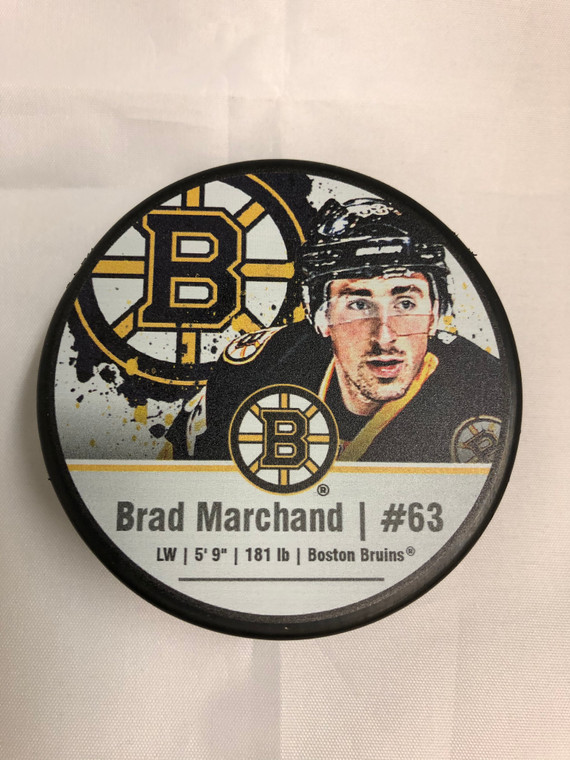 Brad Marchand Puck - Boston Bruins Player Photo Puck with Display Case
