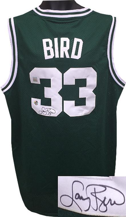 Larry Bird Autographed Jersey - Boston Celtics Green Adidas TB Hardwood Classics Boston Celtics Jersey XL +2 length - Bird/SSG Holograms