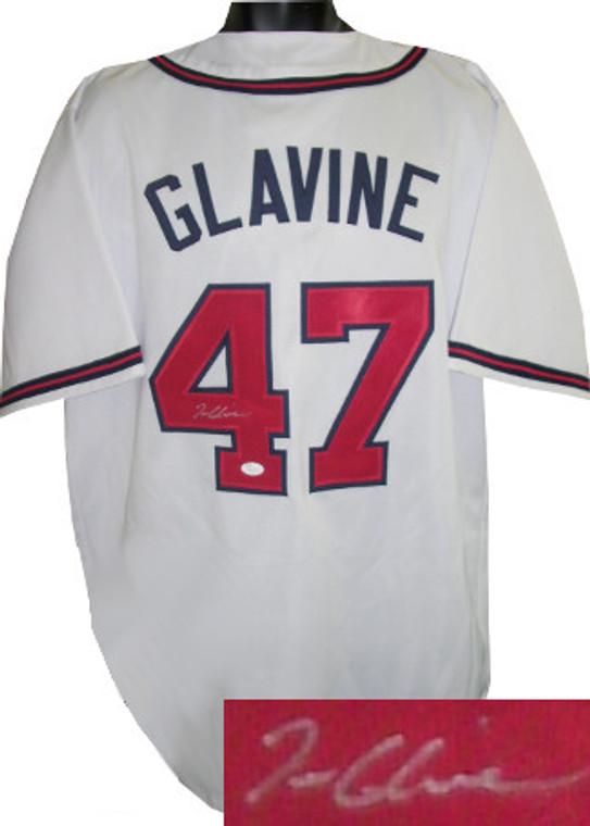 Tom Glavine Autographed Jersey - White Custom Stitched Atlanta Braves Baseball Jersey XL - JSA Hologram