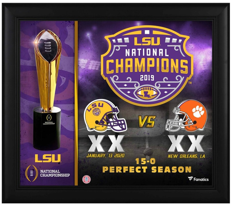LSU Tigers 15x17 Framed National Championship Collage