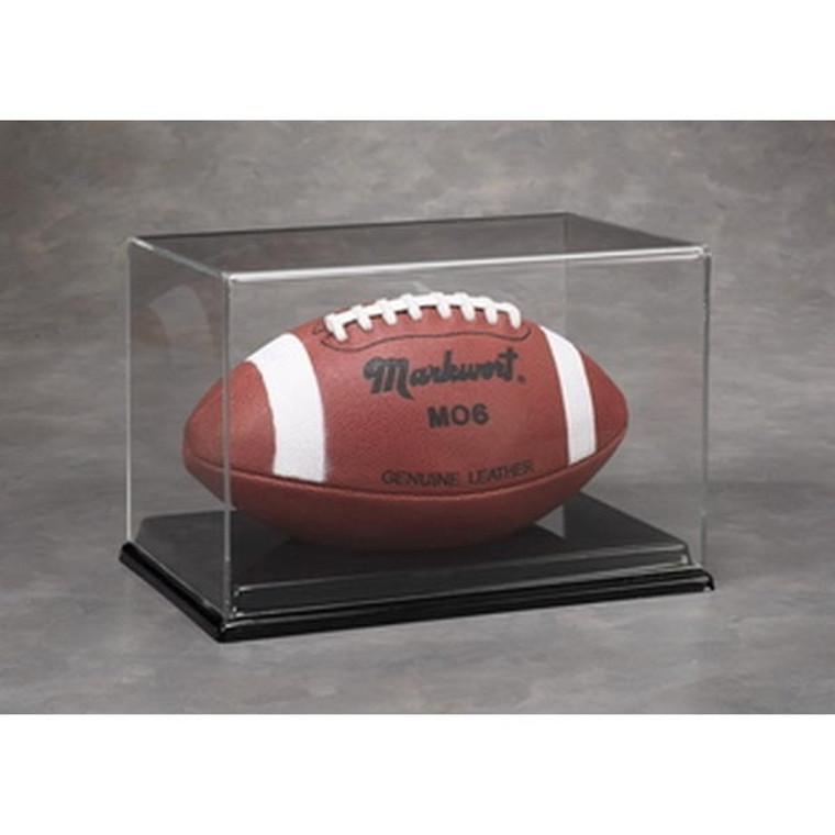 Football Display Case - Acrylic Full Size UV Protection - Kansas City Chiefs