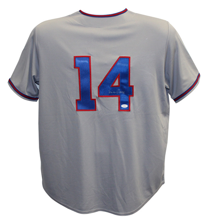 Ernie Banks Autographed Jersey - Chicago Cubs Cooperstown JSA