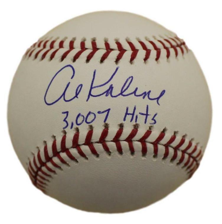 Al Kaline Autographed Baseball - Detroit Tigers MLB 3007 hits inscription
