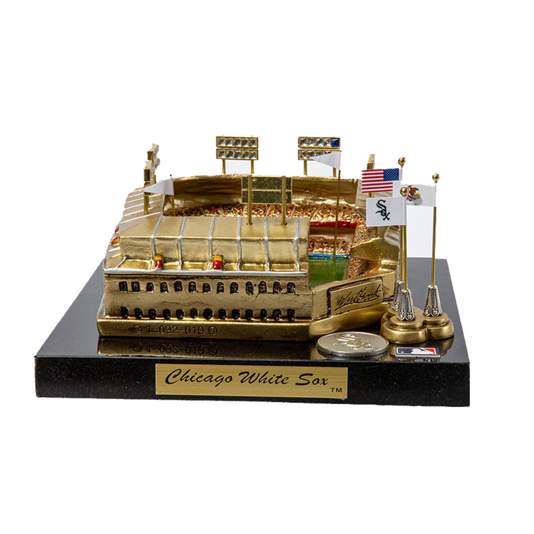 Comiskey Park Chicago White Sox - Stadium Rendition with Display Case