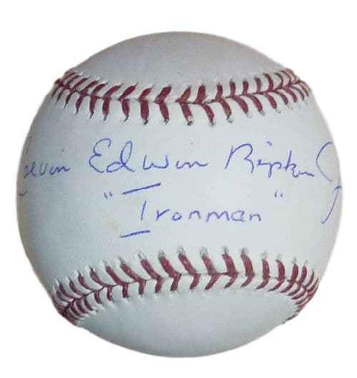 Calvin Edward Ripken Autographed Baseball - OML w/Ironman Baltimore Oriorles