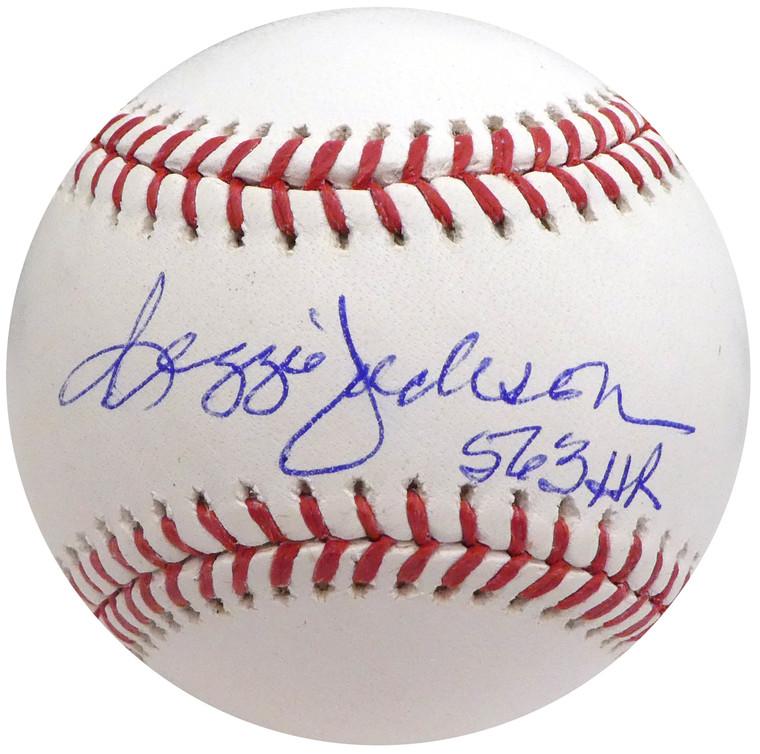Reggie Jackson Autographed Baseball - New York Yankees Rawlings Official MLB 563 HR  Beckett BAS