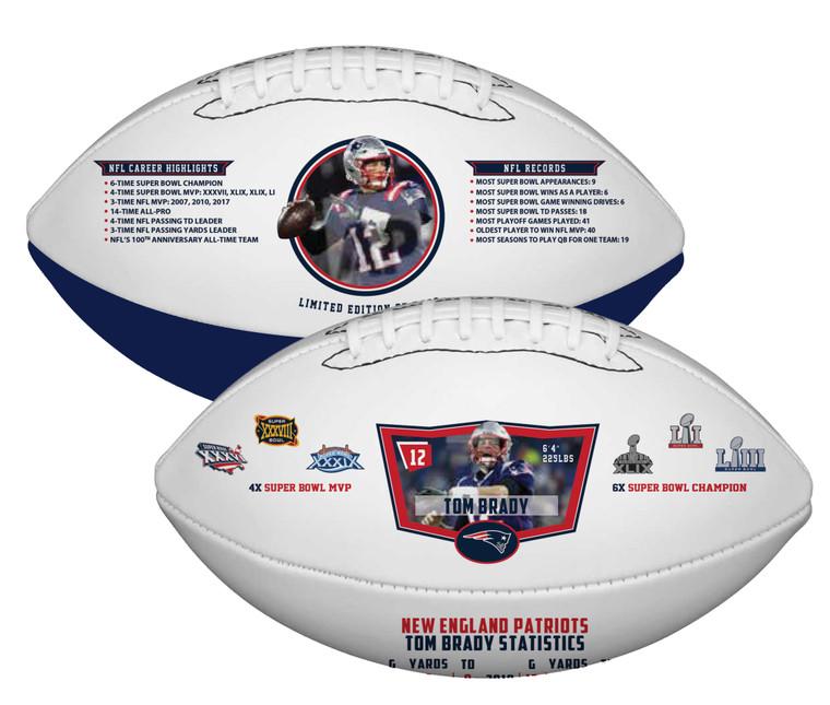 Tom Brady New England Patriots Career Highlights Commemorative Football