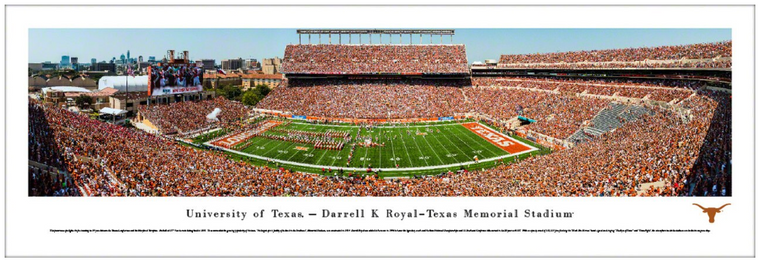 University of Texas Longhorns Darrell K Royal-Texas Memorial Stadium