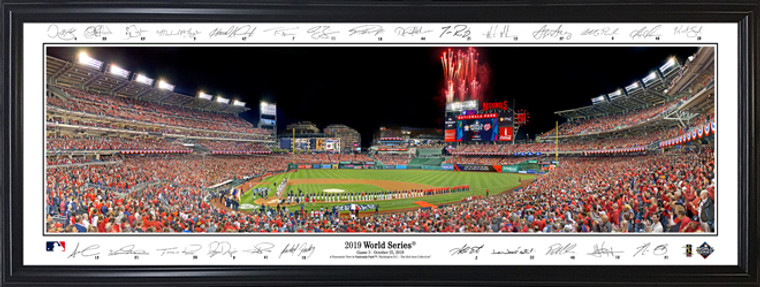 Washington Nationals - 2019 World Series Panorama with facsimile signatures
