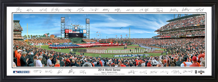 San Francisco Giants - 2014 World Series Panorama with facsimile signatures