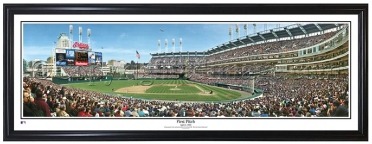 First Pitch at Jacobs Field Framed Panorama