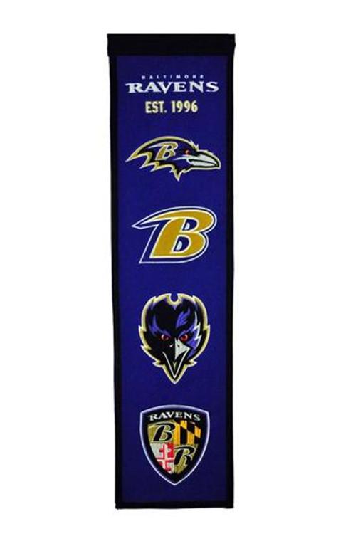 Baltimore Ravens Heritage Banner - 32x8