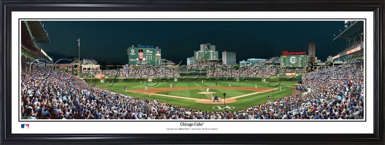 Chicago Cubs Wrigley Field Panorama - Night Game
