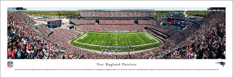 New England Patriots Panoramic Print - Gillette Stadium Day Game