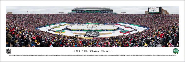 Chicago Blackhawks vs. Boston Bruins - 2019 NHL Winter Classic Panoramic Poster