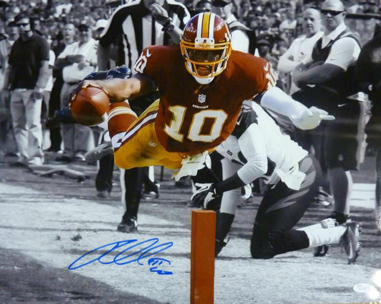 Robert Griffin III Autographed Photo - Washington Redskins 16x20 Sepia JSA