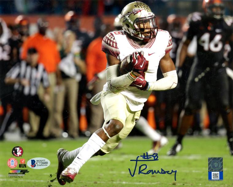 Jalen Ramsey Autographed Photo - Florida State Seminoles 8x10