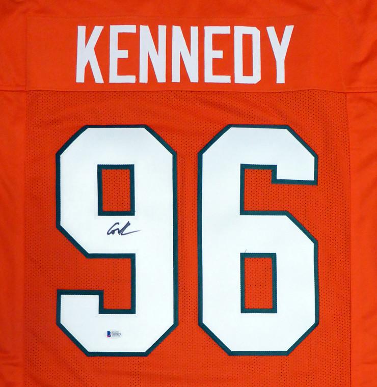 Cortez Kennedy Autographed Jersey - Miami Hurricanes Orange Custom