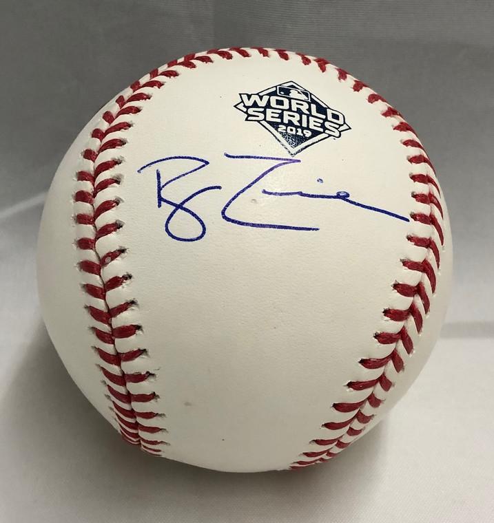 Ryan Zimmerman Autographed Baseball - Washington Nationals Rawlings World Series Ball