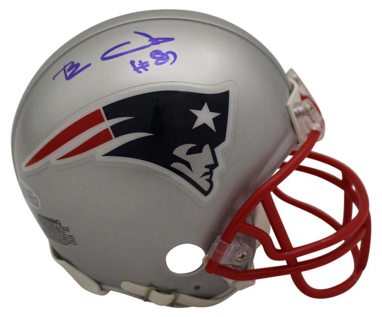 Ben Coates Autographed Mini Helmet - New England Patriots BAS