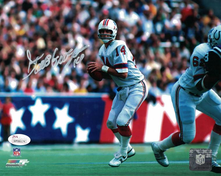 Steve Grogan Autographed 8x10 Photo - New England Patriots JSA