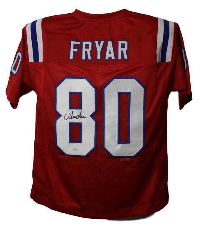 Irving Fryar Autographed Jersey - New England Patriots Red XL JSA