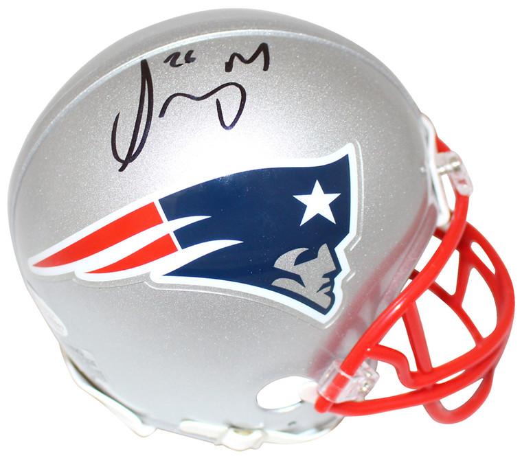Sony Michel Autographed Mini Helmet - New England Patriots BAS