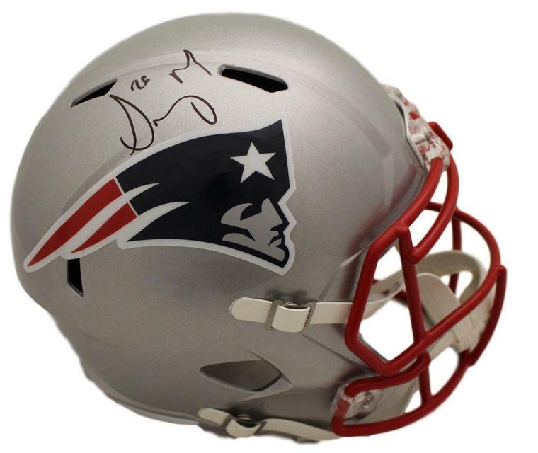 Sony Michel Autographed Helmet - New England Patriots Speed Replica BAS