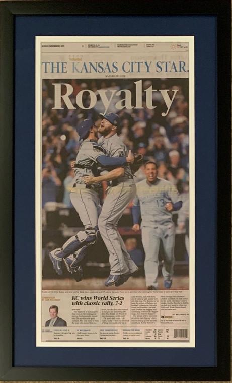 Kansas City Royals 2015 World Series Baseball Champions Star ROYALTY Original Framed Newspaper 11/2/15
