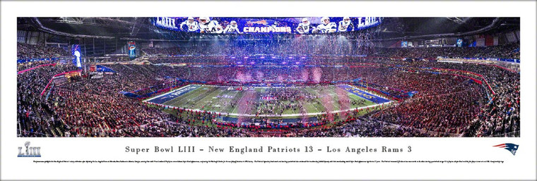 New England Patriots 2019 Super Bowl LIII Panoramic Poster - Post-Game Celebration